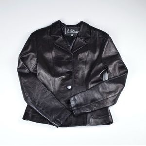 L. Sitbon Women Leather Jacket/Blazer,(#F362)